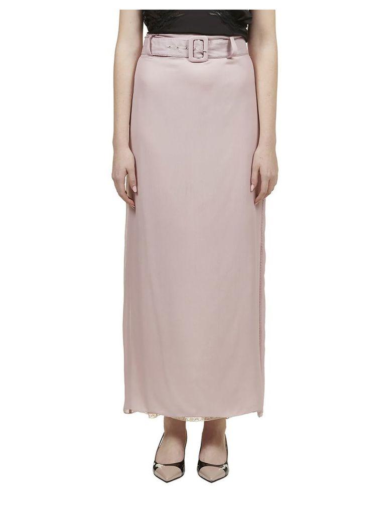 Prada Belted Long Skirt