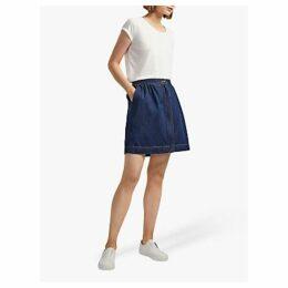 French Connection Julie Pocket Denim Skirt, Navy