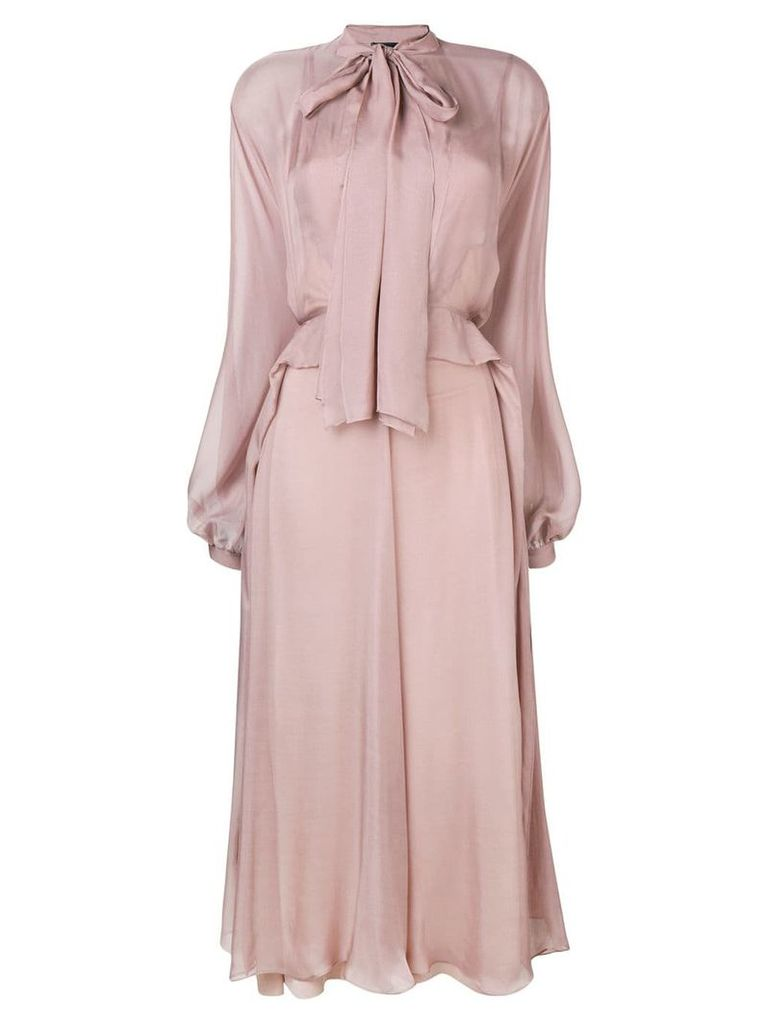 Irina Schrotter long tie-waist dress - Pink