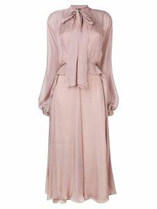 Irina Schrotter long tie-waist dress - Pink