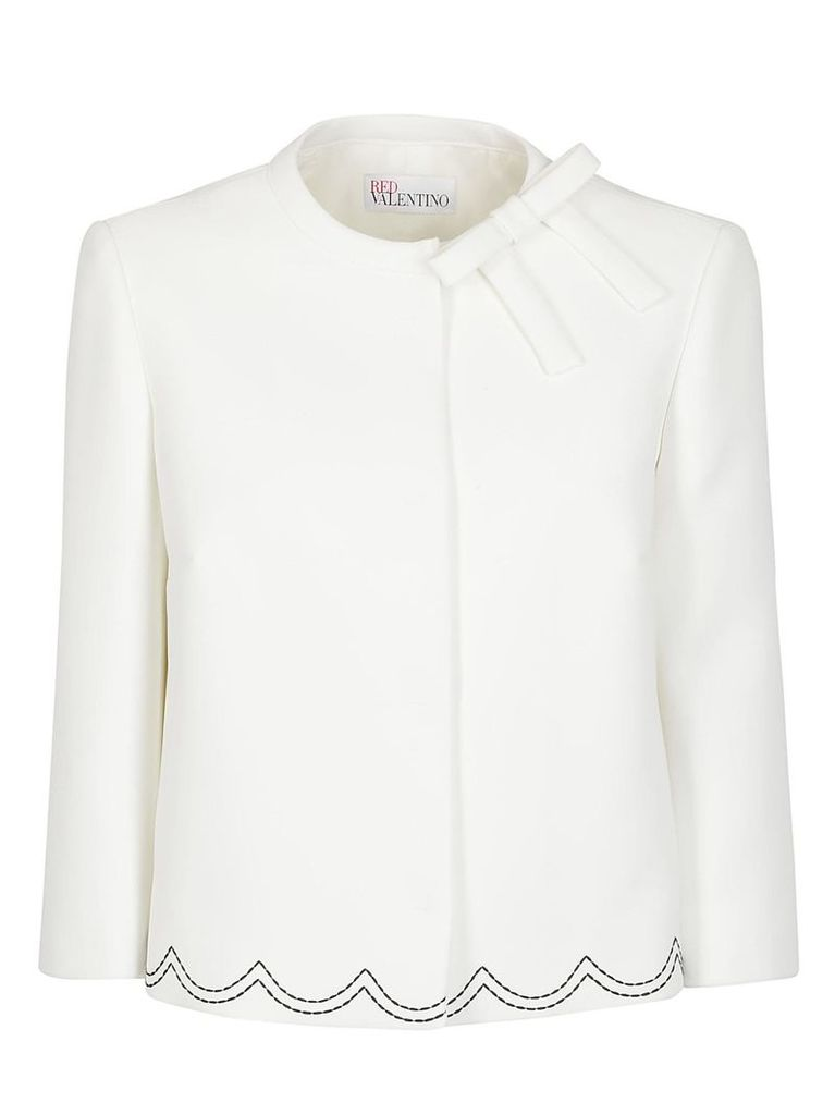 Red Valentino Scalloped Embroidered Blouse