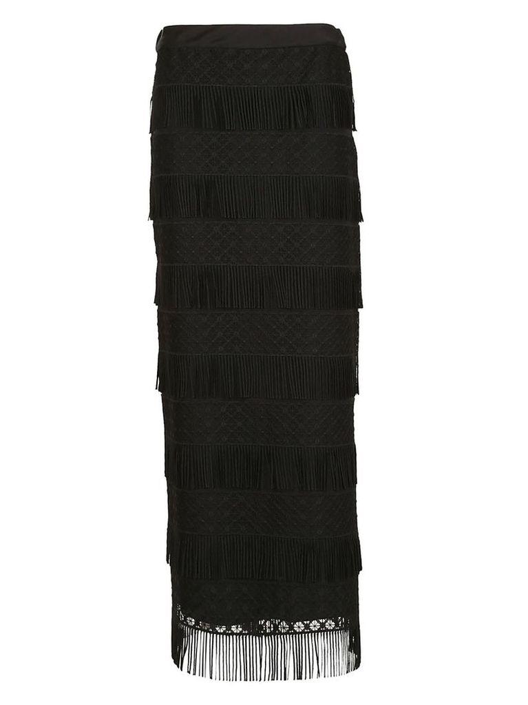 Alberta Ferretti Fringed Detailed Skirt