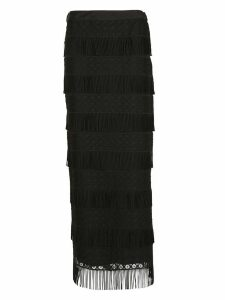 Alberta Ferretti Fringed Detailed Skirt