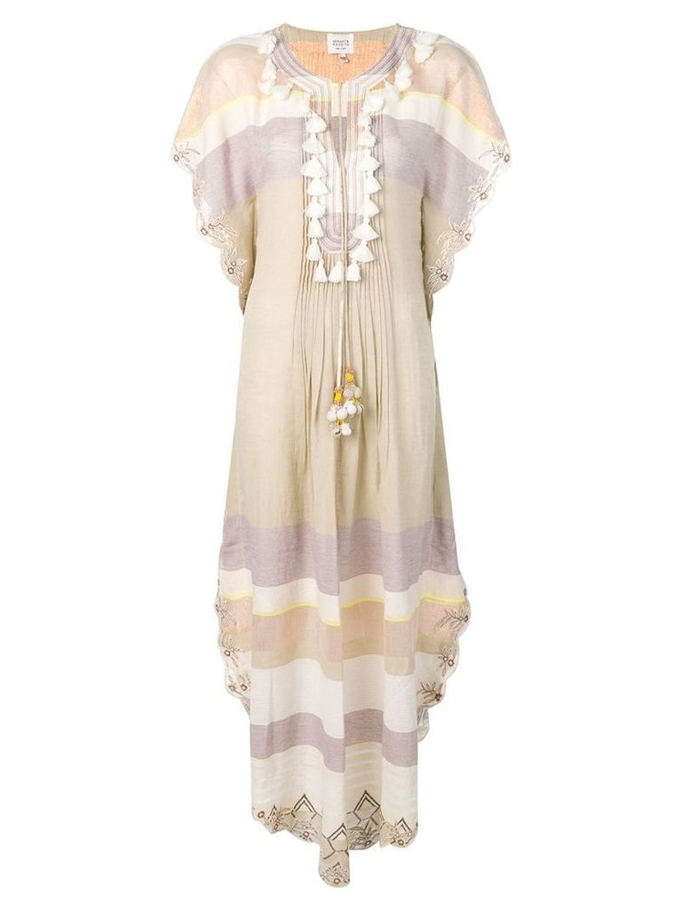 Hemant And Nandita tassel detail tunic dress - Neutrals