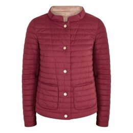 Herno Red Reversible Quilted Shell Jacket