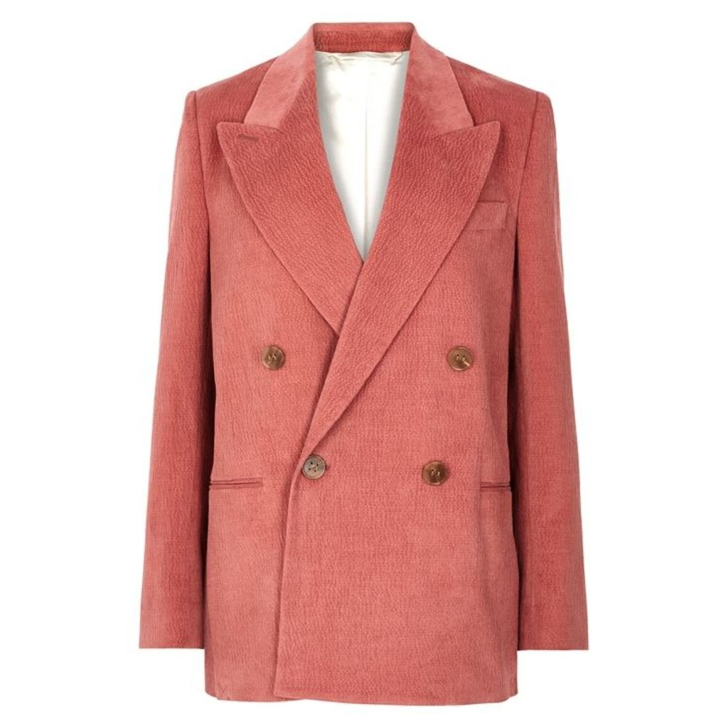 Acne Studios Rose Double-breasted Cord Blazer