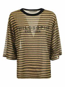 Philosophy Di Lorenzo Serafini Striped Oversized T-shirt