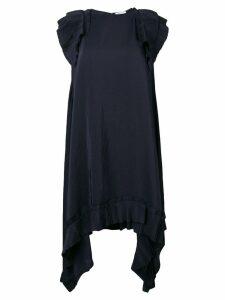P.A.R.O.S.H. pintuck shoulder dress - Blue