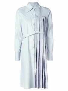 Maison Margiela pleated shirt dress - Blue