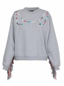 Alanui Piping Embroidery Sweatshirt