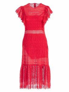 Philosophy di Lorenzo Serafini Embroidered Midi Dress