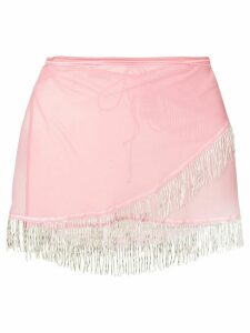 Oseree mini skirt beach cover-up - Pink