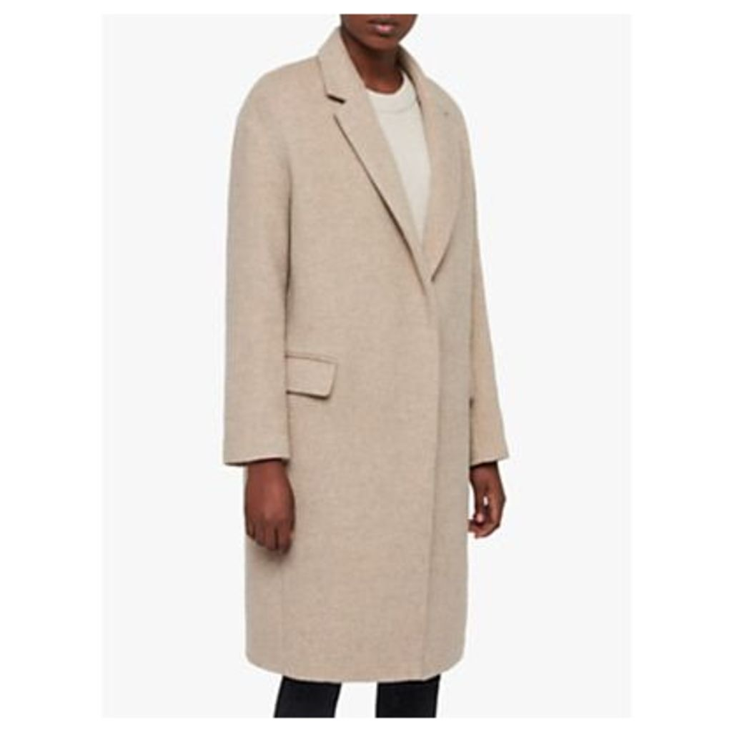 AllSaints Sancia Comet Coat, Brown Chestnut