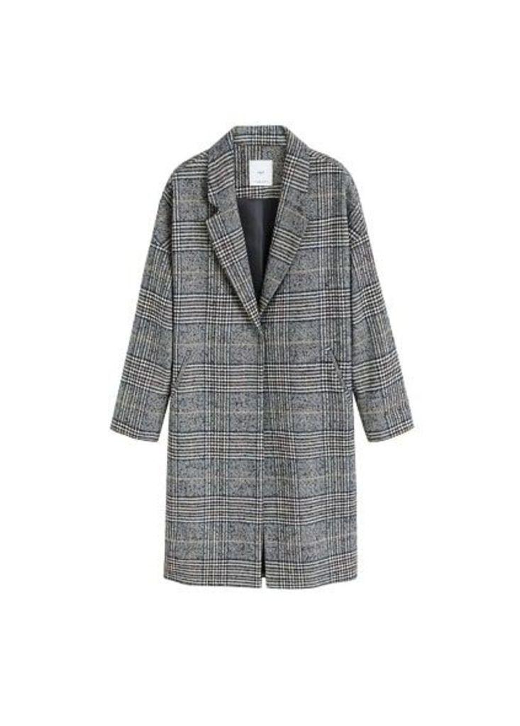 Checkered overcoat