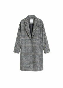Checkered overcoat