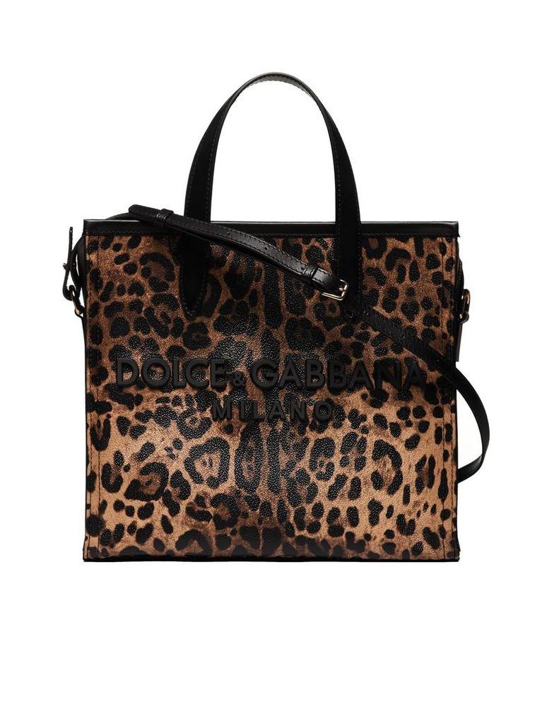 Dolce & Gabbana Leopard Medium Market Tote