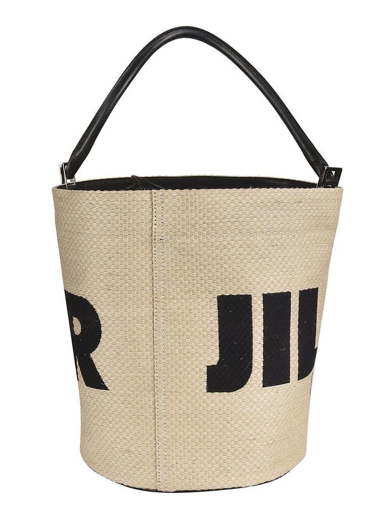 Jil Sander Rafia Bucket Bag