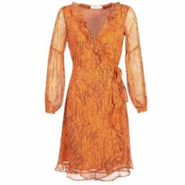 Cream  ANA  women's Long Dress in Orange
