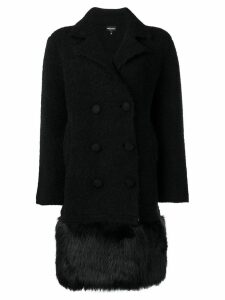 Emporio Armani short double-breasted coat - Black