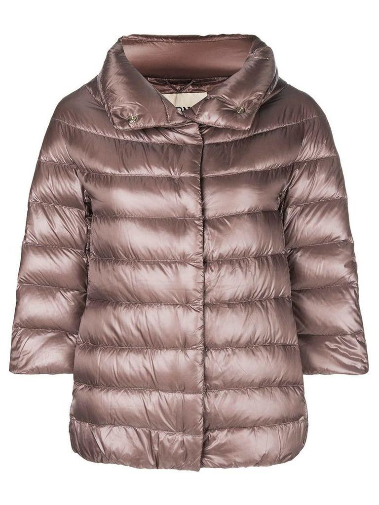 Herno 3/4 sleeve puffer jacket - Pink