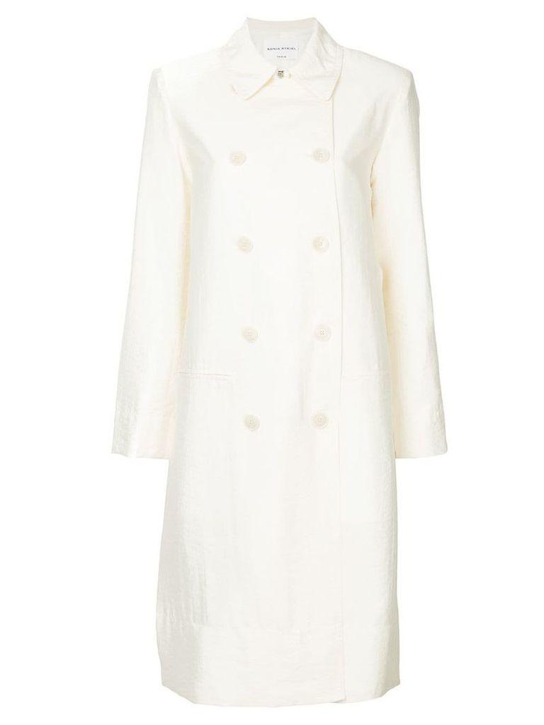 Sonia Rykiel double breasted coat - White