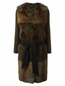 Blancha fur coat - Brown