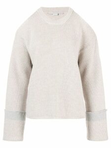Stella McCartney cut-out shoulder jumper - Grey