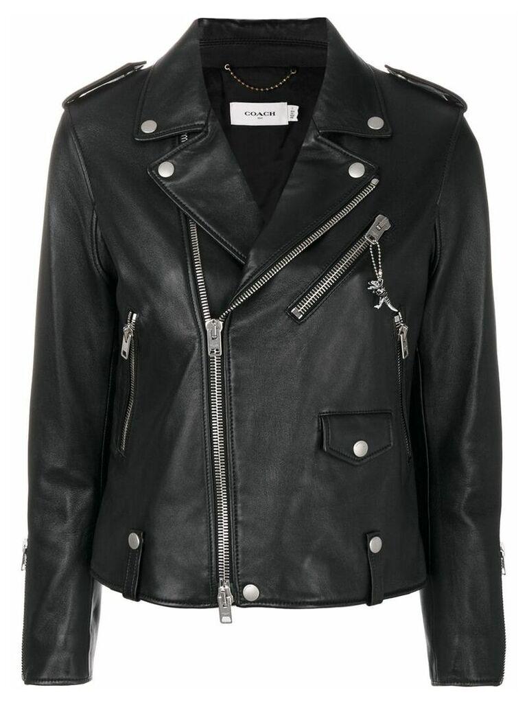 Coach leather biker jacket - Black