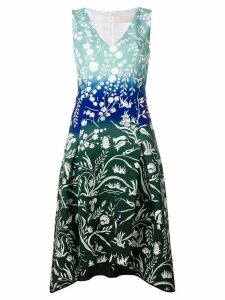 Peter Pilotto stencil-effect printed dress - Blue