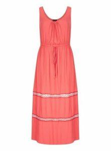 **City Chic Coral Maxi Dress, Coral