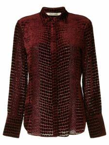 Roberto Cavalli snakeskin effect shirt - Red