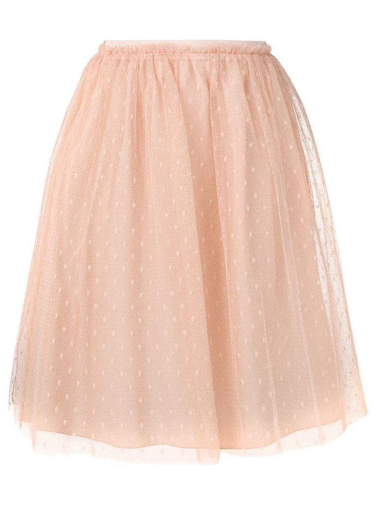 Red Valentino high waisted tulle skirt - Neutrals