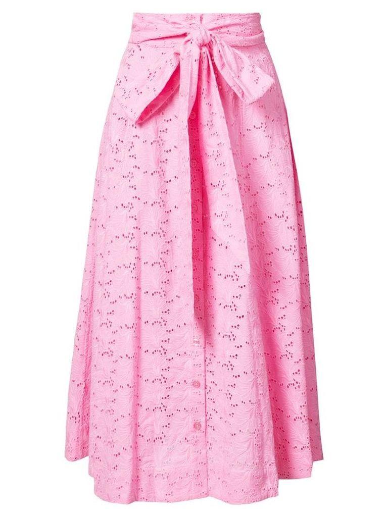 Lisa Marie Fernandez full-length midi skirt - Pink