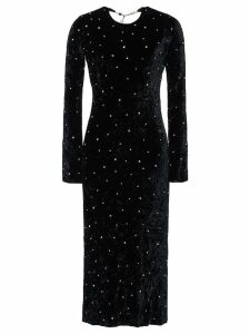 Miu Miu crushed velvet dress - Black
