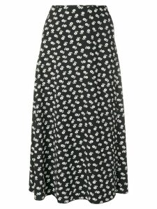 Alexa Chung floral midi skirt - Black