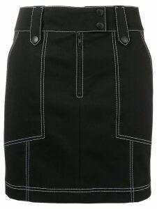 Kenzo contrast stitch mini skirt - Black