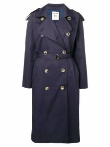 Semicouture belted trench coat - Blue