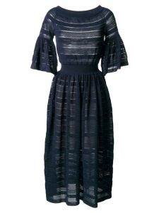 Antonino Valenti perforated detail flared dress - Blue