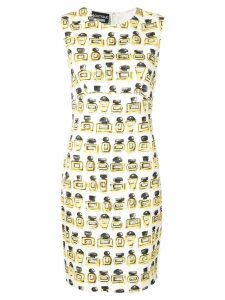 Boutique Moschino fitted mini dress - White