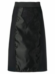 Dolce & Gabbana satin-panelled skirt - Black
