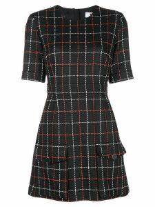 MSGM stitch check short dress - Black