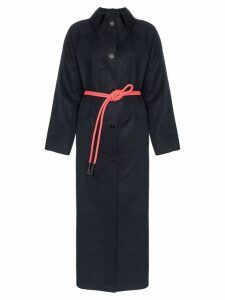 Kassl long rope belted trench coat - Blue