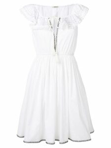 Miu Miu off-the-shoulder dress - White