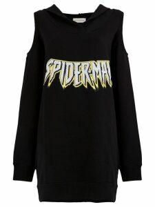 Faith Connexion Spiderman hoodie dress - Black