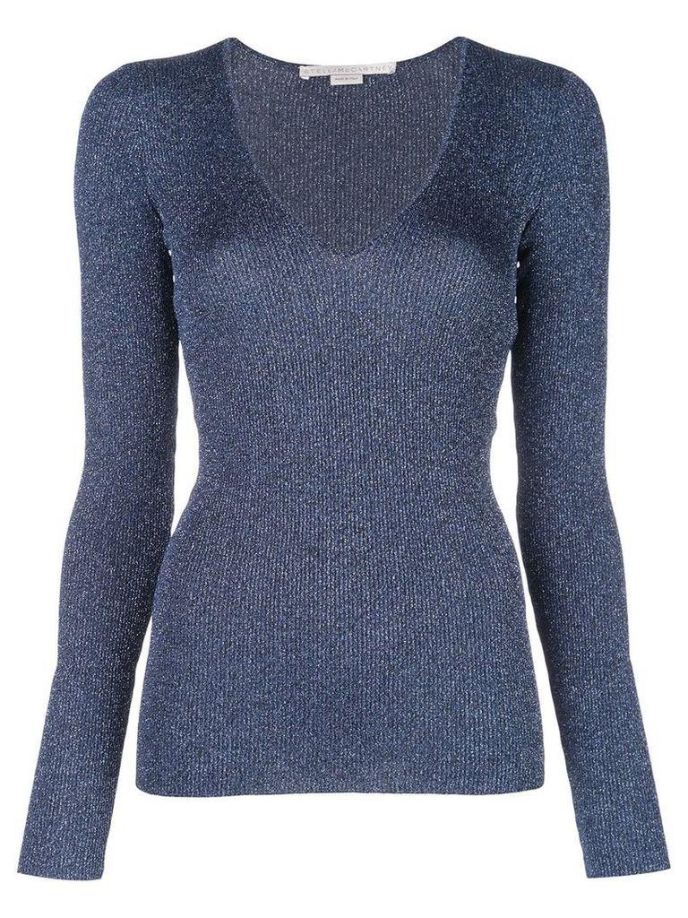 Stella McCartney ribbed knit top - Blue