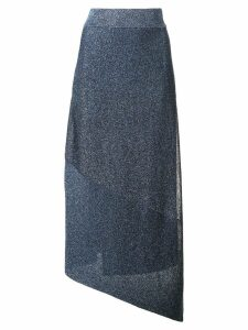 Stella McCartney asymmetric hem skirt - Blue
