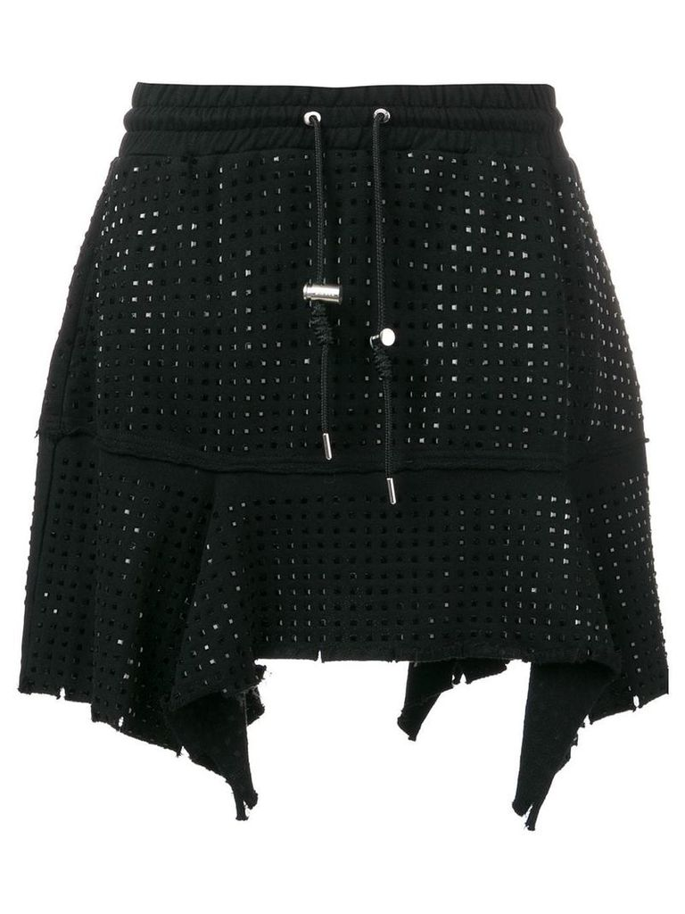 Diesel short stud-embellished skirt - Black