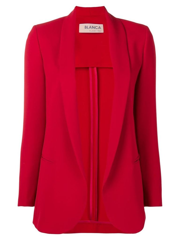 Blanca open front blazer - Red