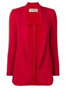 Blanca open front blazer - Red