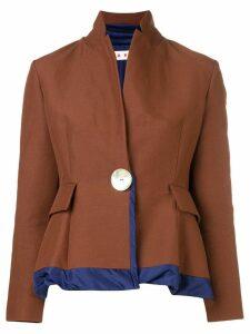 Marni peplum blazer - Brown